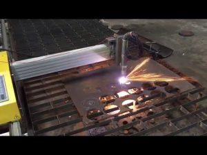 เปลวไฟพลาสม่า cnc แบบพกพาเครื่องตัดด้วย hypertherm 45